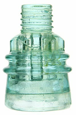 "CD 158.9 BOSTON BOTTLE WORKS, Light Green Aqua; Classic ""screw-top"""