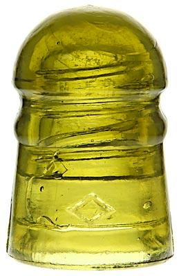 CD 102 DIAMOND Mustard Yellow w/ Bubbly Veils; Delicate micro-bubble trails!