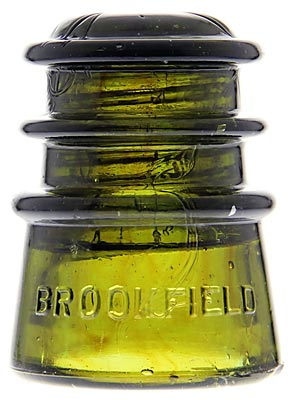 CD 115 BROOKFIELD Olive Green w/ Amber Blending; Neat swirling!