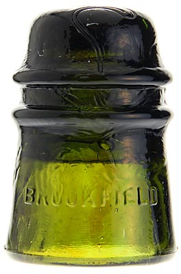 CD 121 BROOKFIELD Olive Green w/ Amber Blending; Nice toll!