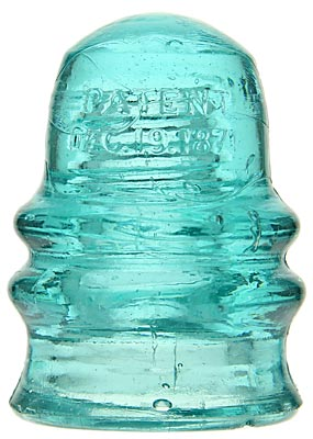 "CD 131.4 PATENT DEC. 19, 1871 Light Blue Aqua; The ""Number 1"" Hemingray!"