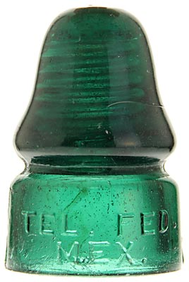 CD 133.5 TEL.FED.MEX. Teal Green; Crude Mexican piece!