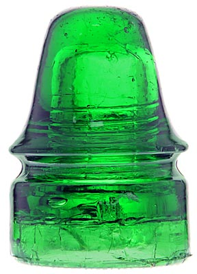 CD 160.7 AM.INSULATOR CO. Rich 7-up Green; Absolutely stunning and rare color!