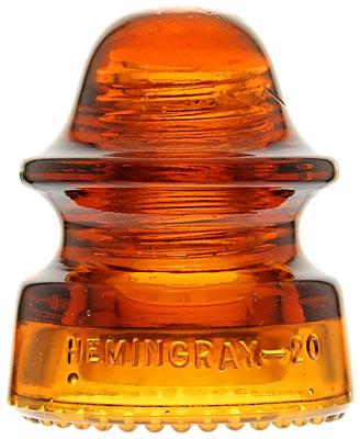 CD 164 HEMINGRAY-20 Glowing Orange Amber; Stunning color!