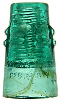 "CD 130.2 SEILERS, Aqua w/ Milk and Gunk; Rare & Gunky! An item for everyone: Western glass collectors, ""1871"" collectors and CD collectors!"