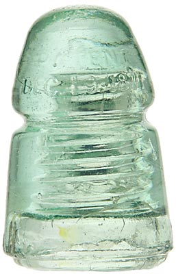 CD 124.1 PATENT DEC. 19, 1871, Icy Green; Don't be fooled by the diminutive size. This is one RARE insulator!
