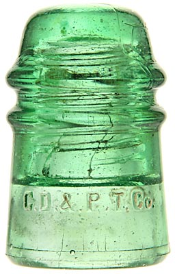 CD 121 C.D.& P.TEL.CO., Deep Lime Green; Crude with character!