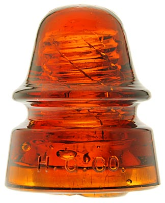 CD 162 H.G.CO., Dark Orange Amber; SMOOTH BASE!