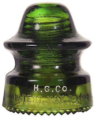 CD 164 H.G.CO., Dark Yellow Green; Distinctive shade of green!