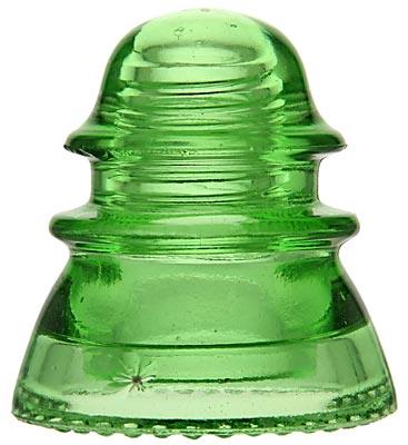 "CD 154 MIN COM, Glowing Depression Glass Green; A real ""glower""!"