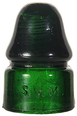 CD 133.5 TEL.FED.MEX., Dark Emerald Green w/ Milk Wisps; Eye-catching color!