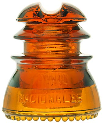CD 214 TELEGRAFOS NACIONALES, Rich Orange Amber; Excellent condition, stunning color!