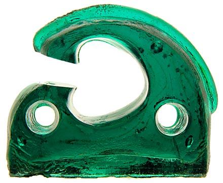 CD 1038 CUTTER, Greenish Deep Aqua; Always popular, great condition, ribbed bottom!