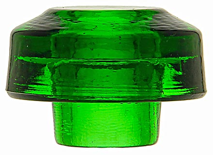 CD 22.5 {Unembossed}, Deep 7-up Green; A stunning, glowing color for this battery rest insulator!