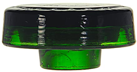 "CD 31 E.S.B.CO., Deep Emerald Green; The 4"" diameter size of this piece really shows off the great color!"