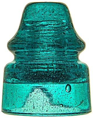 CD 138.2 {Pennycuick style}, Deep Fizzy Tealy Aqua; The rare unembossed style and a great color as well!