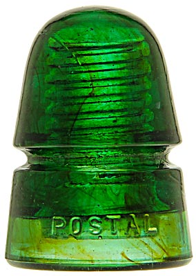 CD 145 POSTAL, Emerald Green w/ Amber Swirls; AWESOME color and condition!
