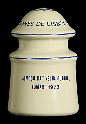 "Commemorative {Portugal}, Cream Porcelain; Have lunch with the ""Old Guard""!"