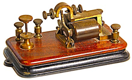 Bunnell Telegraph Sounder; Imagine the messages this unit clicked out!