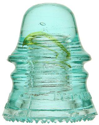 CD 151 H.G. CO., Light Aqua w/ Amber Swirls; Check out the worm!
