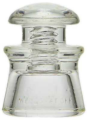 "CD 100.5 PYREX, Clear; A popular ""near miniature"" insulator!"