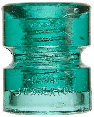 CD 185 MINE INSULATOR, Aqua; Made by Hemingray!