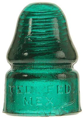 CD 133.5 TEL. FED. MEX., Deep Teal Green; An eye-catching color!