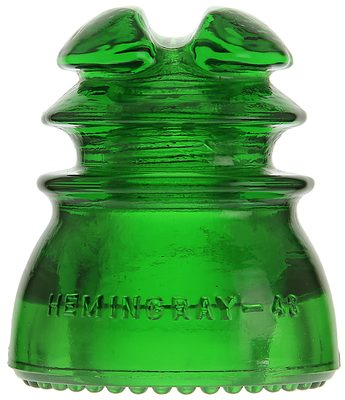 CD 214 HEMINGRAY, Bright 7-up Green; Popular with collectors!