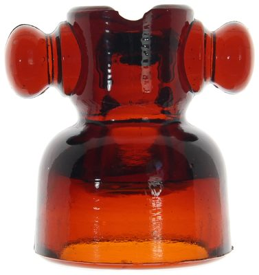 """CD 680 """"T-Bar"""" {Spain}, Dark Red Amber; this could be the most desirable foreign insulator!"""