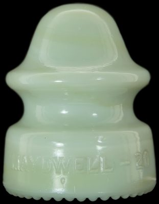 CD 164 MAYDWELL-20, White Milk w/ Butterscotch Swirls; uncommon color variant