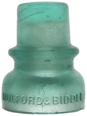 CD 735 MULFORD & BIDDLE, Frosted Light Green Aqua