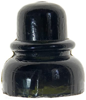 "CD 740 {Unembossed}, Olive Green Blackglass; the less common ""chubby"" variant"