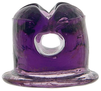 Lightning Rod Insulator, Rich Dark Purple; great rich saturated color