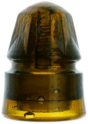 "CD 158 BOSTON BOTTLE WORKS, Dark Yellow Amber; A ""six sided"" gem, rare and amazing color!"