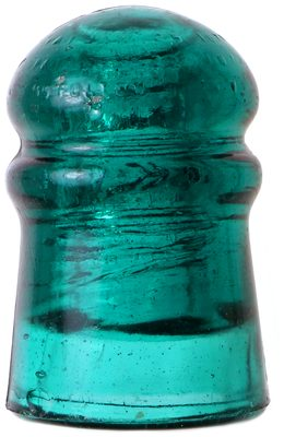 CD 126 W. BROOKFIELD, Teal Aqua; SUPER RARE COLOR! old style crown embossing!