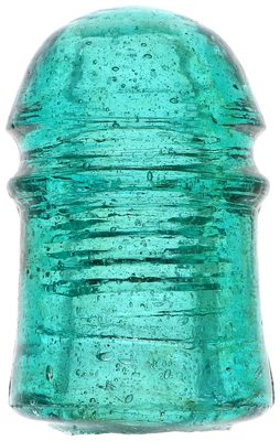 CD 102 {Unembossed Pennycuick}, Fizzy Blue Aqua; Thick, heavy, crude glass!