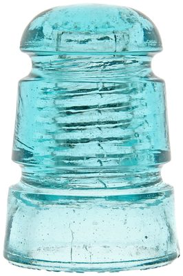 CD 114.2 STANDARD GLASS INSULATOR, Light Aqua; Wonderful condition and a hard CD to find!