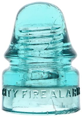 CD 133 CITY FIRE ALARM, Light Blue Aqua; Fall River special!
