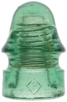 CD 134 DIAMOND P, Fizzy Light Lime Green; Tall variant with an interesting bubble!
