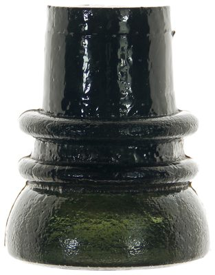 "CD 737.6 {Unembossed}, Olive Blackglass; The popular ""Pilgrim Hat""!"