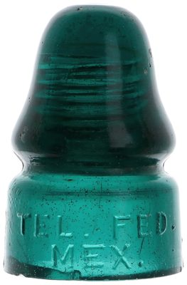 """CD 133.5 TEL. FED. MEX. {Mexico}, Deep Teal Green; """"True teal"""" and microbubbles!"""