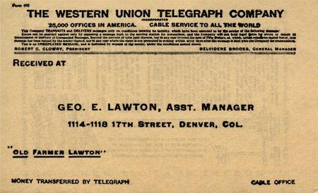 Western Union ephemera; Neat piece of Western Union history!