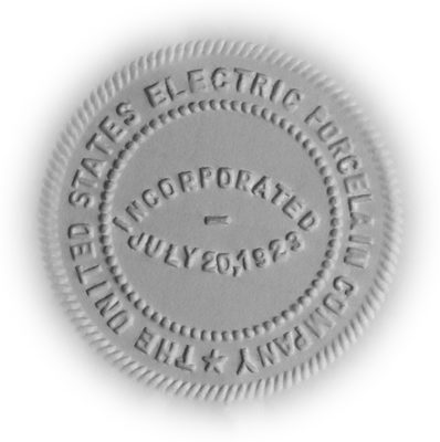Corporate Press; United States Electric Porcelain Company seal!