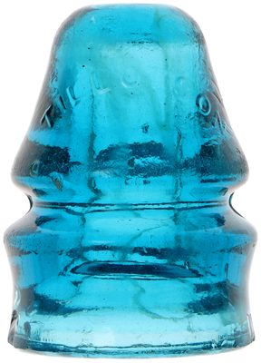 CD 731 TILLOTSON, Glowing Sapphire Blue w/ Milk; top shelf color!
