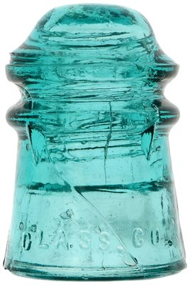 CD 106.3 DUQUESNE GLASS CO., Blue Aqua; crude with character!