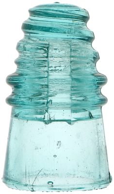 CD 110.5 NATIONAL INSULATOR CO., Light Aqua; great condition with bold base embossing!