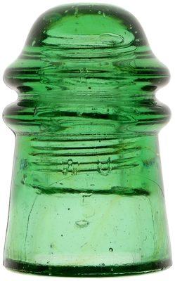 CD 125 W.U. // PATENT DEC. 19, 1871, Glowing Green; amazing color!