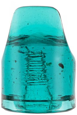 CD 267.5 N.E.G.M. CO., Rich Blue Aqua; distorted and underpoured ear!