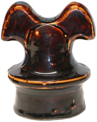 """U-395 Porcelain """"Mickey Mouse"""" {Pittsburg product}, Rich Brown w/ Cream Highlights; a piece seeing increasing demand with the classic """"Mickey"""" shape!"""