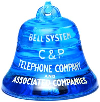 C & P TELEPHONE, Electric Blue; a true paperweight!